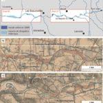 Cartographie diachronique des bandes actives et espaces de divagation de la rivière Calavon Coulon dans le Vaulcuse