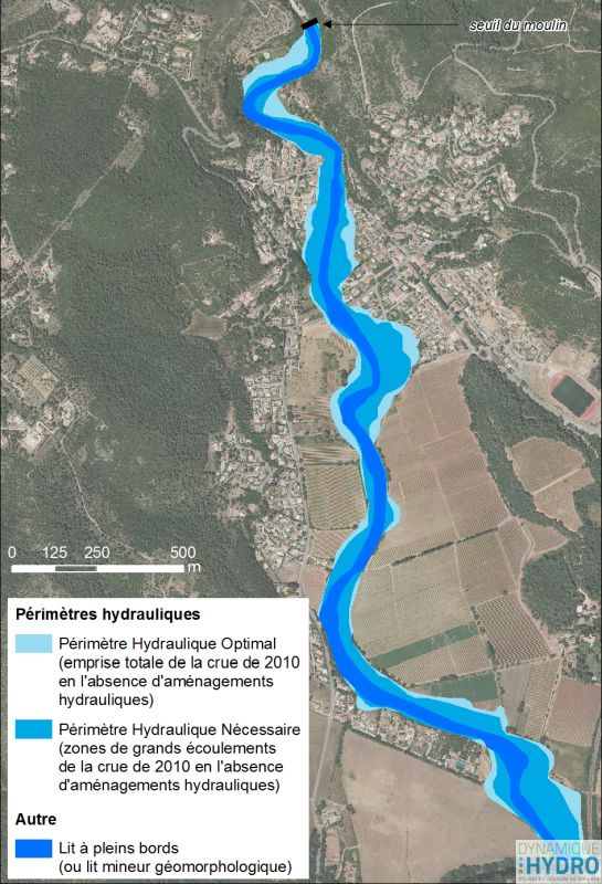 Cartographie du périmètre hydraulique de la Florièye dans le cadre de la restauration morphologique du cours d'eau