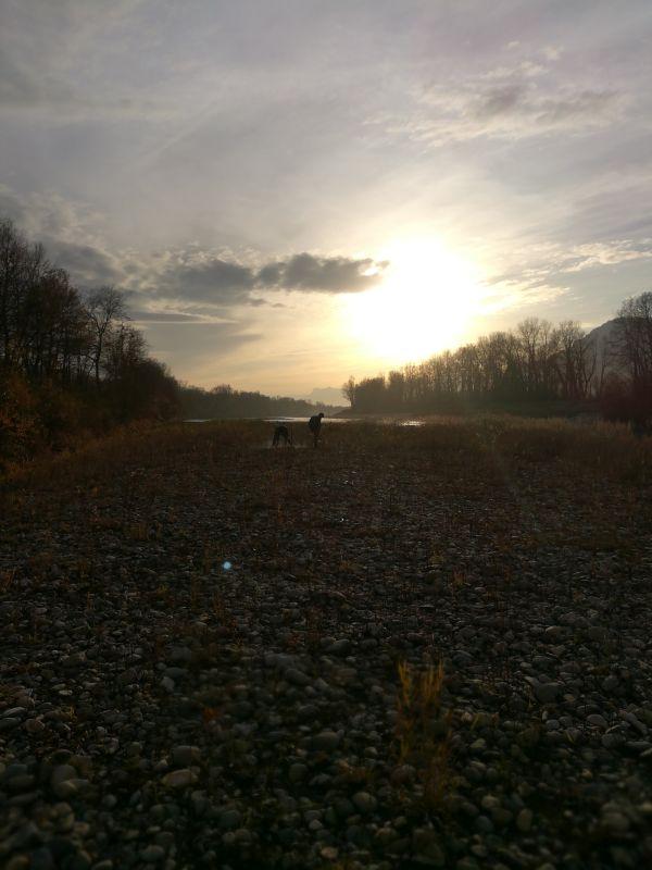 Coucher de soleil sur l'Isère