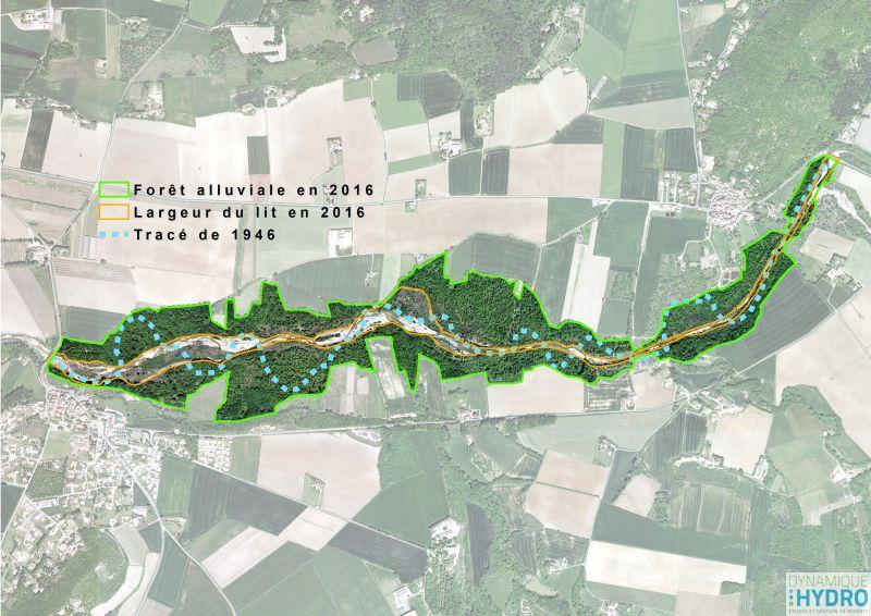 Roubion - Carte des habitats pour la restauration écomorphologique