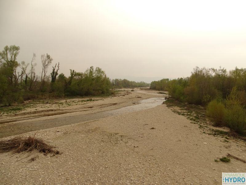 Photo du cours d'eau Roubion pour l'étude du transport solide