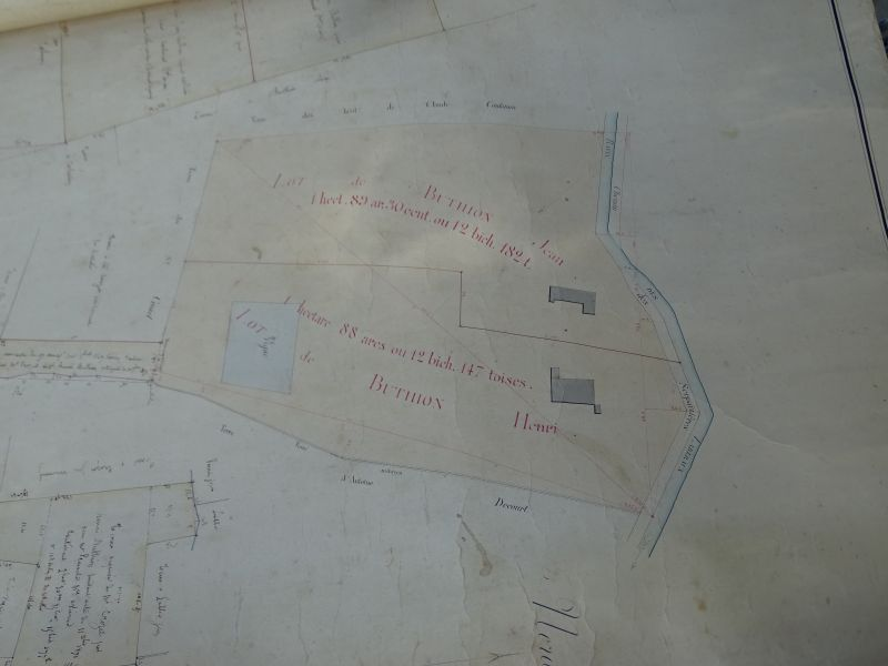 Photo du plan cadastral ancien