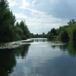 AGLY - Renaturation : vue du fleuve maritime Agly