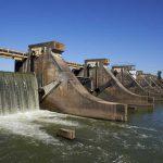 GARONNE - Diagnostic sédimentaire : vue sur le barrage de Golfech sur le fleuve Garonne