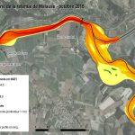 GARONNE - Diagnostic sédimentaire : bathymétrie de la retenue (altitude des fonds)