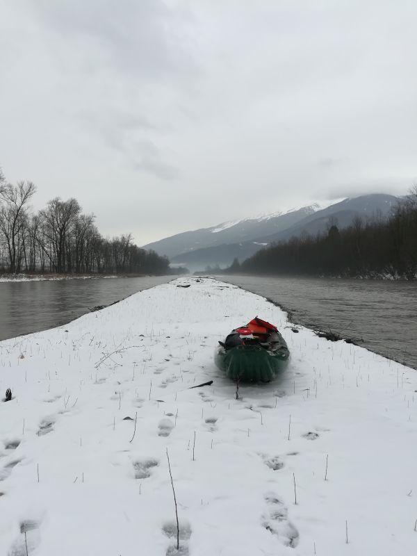 ISERE - banc de Freterive - Le canoë Dynamique Hydro