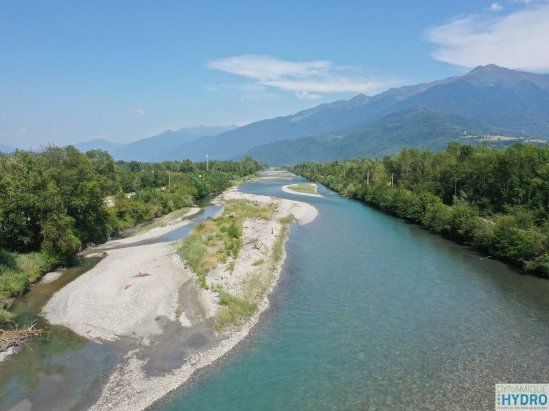 Suivi des impacts : Vue de l'Isère en drone