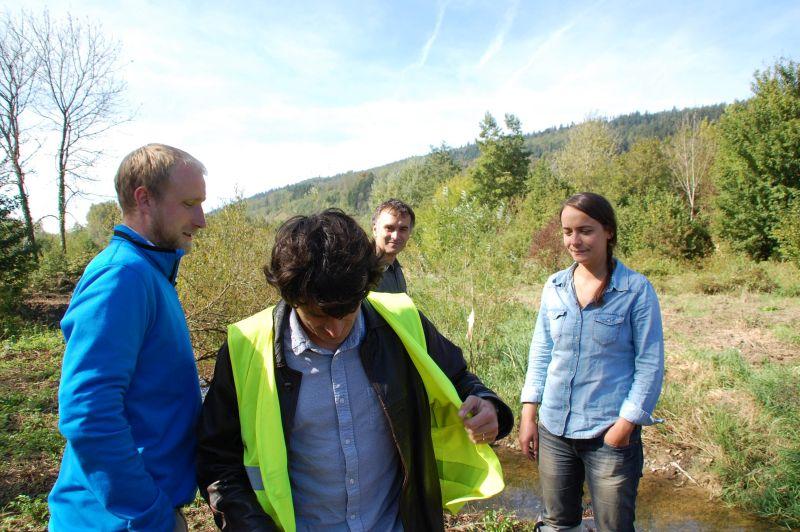 Loïc, Charles, Benoît et Anaïs en visite de chantier