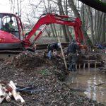 Nant : photo des travaux en cours sur la rivière