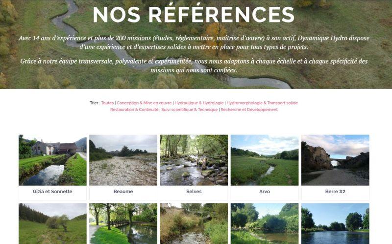 Page des références de notre nouveau site internet